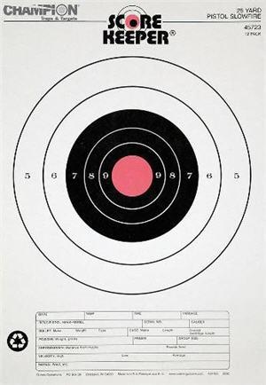 champion 45723 orange bulls-eye target