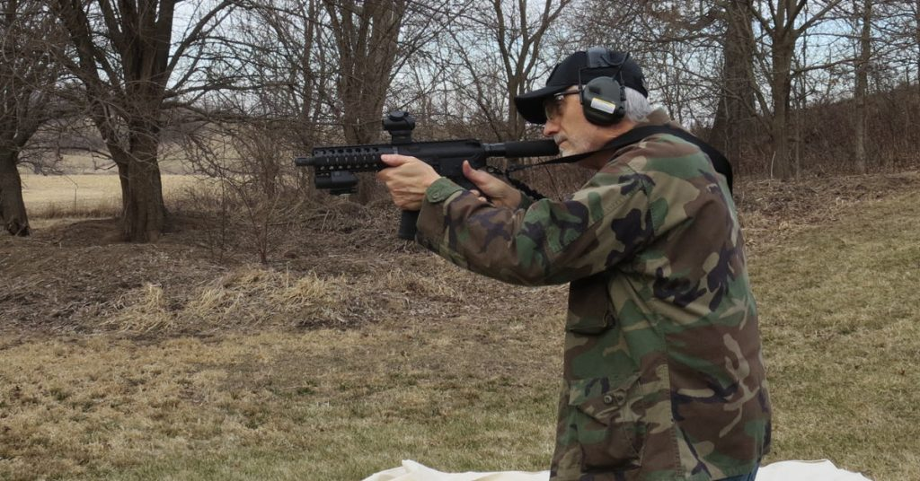 red green dot sight on ar-15 pistol