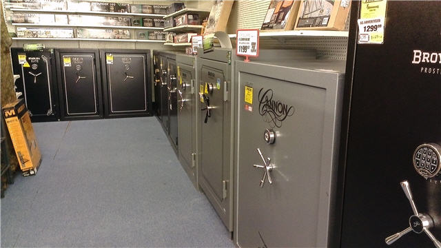 "Lineup of ""Budget"" Safes at Big Box Store"