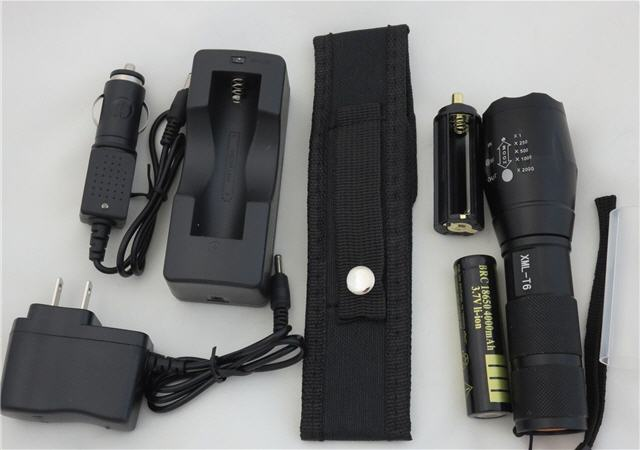 T6 2000 LED Flashlight Kit