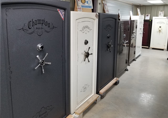 champion safes on display